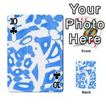 Blue summer design Playing Cards 54 Designs  Front - Club10