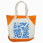 Blue summer design Accent Tote Bag Front