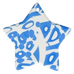 Blue summer design Star Ornament (Two Sides)