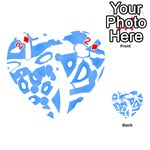 Blue summer design Playing Cards 54 (Heart)  Front - Diamond2
