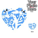 Blue summer design Playing Cards 54 (Heart)  Front - Club6