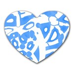 Blue summer design Heart Mousepads