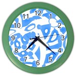 Blue summer design Color Wall Clocks