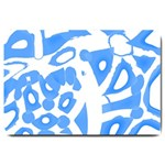 Blue summer design Large Doormat