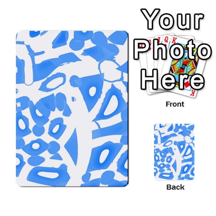 Blue summer design Multi-purpose Cards (Rectangle)