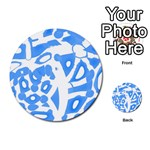 Blue summer design Multi-purpose Cards (Round)  Back 14