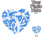 Blue summer design Multi-purpose Cards (Heart)  Back 41