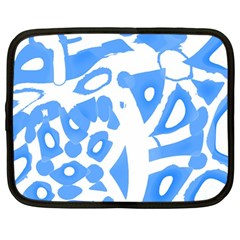 Blue Summer Design Netbook Case (large)