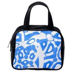 Blue summer design Classic Handbags (One Side)