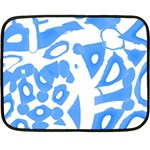 Blue summer design Double Sided Fleece Blanket (Mini)