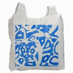 Blue summer design Recycle Bag (Two Side)  Front
