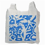 Blue summer design Recycle Bag (Two Side)  Back
