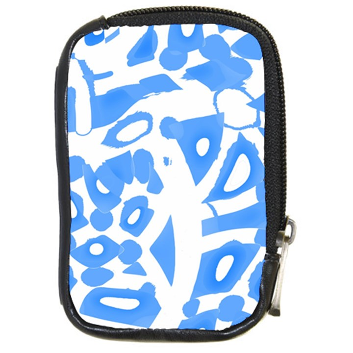 Blue summer design Compact Camera Cases