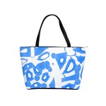 Blue summer design Shoulder Handbags Front