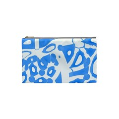 Blue summer design Cosmetic Bag (Small)