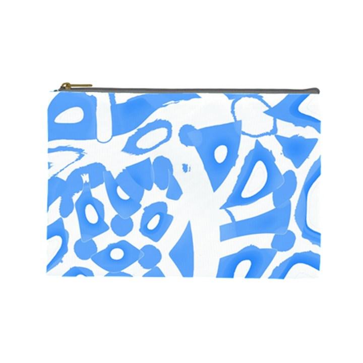 Blue summer design Cosmetic Bag (Large)
