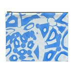 Blue summer design Cosmetic Bag (XL)