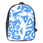 Blue summer design School Bags(Large)  Front