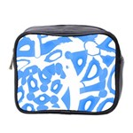 Blue summer design Mini Toiletries Bag 2-Side