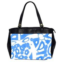 Blue summer design Office Handbags (2 Sides)
