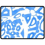 Blue summer design Fleece Blanket (Large)
