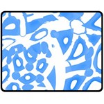 Blue summer design Fleece Blanket (Medium)