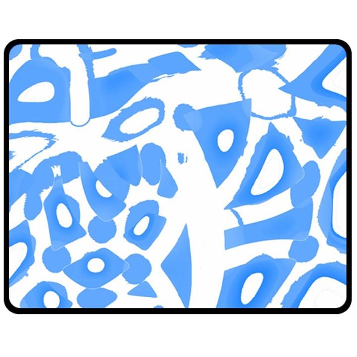 Blue summer design Fleece Blanket (Medium)