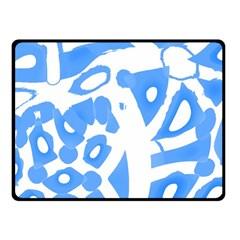 Blue summer design Fleece Blanket (Small)