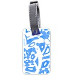 Blue summer design Luggage Tags (One Side)