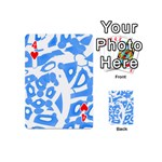 Blue summer design Playing Cards 54 (Mini)  Front - Heart4
