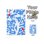 Blue summer design Playing Cards 54 (Mini)  Front - Heart7
