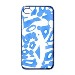 Blue summer design Apple iPhone 4 Case (Black)