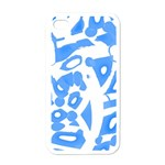 Blue summer design Apple iPhone 4 Case (White)