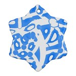 Blue summer design Snowflake Ornament (2-Side)