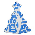 Blue summer design Christmas Tree Ornament (2 Sides)