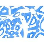 Blue summer design I Love You 3D Greeting Card (7x5) Back