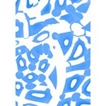 Blue summer design Apple 3D Greeting Card (7x5) Inside