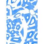 Blue summer design Clover 3D Greeting Card (7x5) Inside