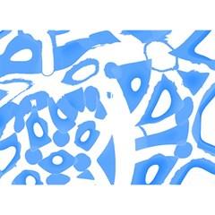 Blue Summer Design Birthday Cake 3d Greeting Card (7x5)