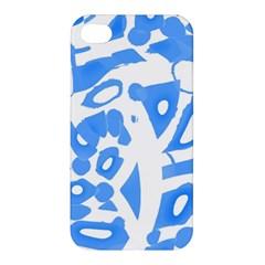 Blue Summer Design Apple Iphone 4/4s Hardshell Case by Valentinaart