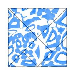 Blue summer design Acrylic Tangram Puzzle (6  x 6 )