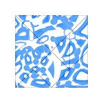 Blue summer design Acrylic Tangram Puzzle (4  x 4 ) Front