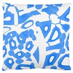 Blue summer design Large Cushion Case (Two Sides)