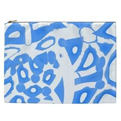 Blue summer design Cosmetic Bag (XXL)
