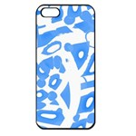 Blue summer design Apple iPhone 5 Seamless Case (Black)