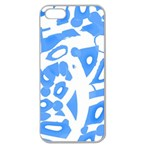 Blue summer design Apple Seamless iPhone 5 Case (Clear) Front