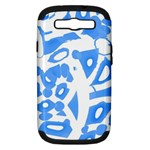 Blue summer design Samsung Galaxy S III Hardshell Case (PC+Silicone)