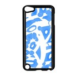 Blue summer design Apple iPod Touch 5 Case (Black)