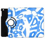 Blue summer design Apple iPad Mini Flip 360 Case