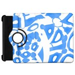 Blue summer design Kindle Fire HD Flip 360 Case